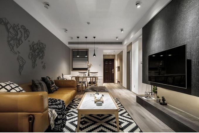 80平米左右的新中式公寓住宅