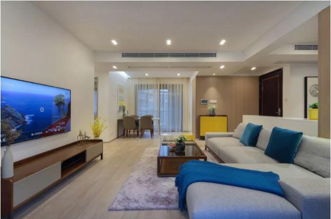 130平的房子就做了两间卧室,享受的就是这种禅意生活